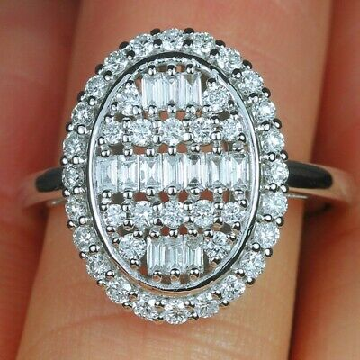 Women Gorgeous 925 Silver Rings White Sapphire Wedding Engagement Ring Size 6-10