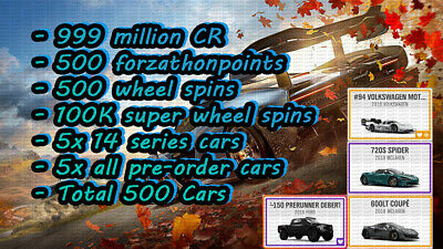 Forza Horizon 4 Series 14 | 5x ALL RARE CARS | FOR XBOX AND PC