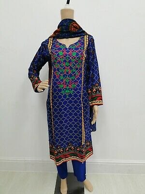 Pakistani/Indian Winter Khaddar 3pc Salwar Kameez Suit w/ Warm Shawl