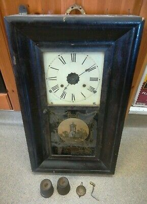 Vintage Wall Clock by Jerome & Co New Haven USA - **Spares & Repairs** (D1)