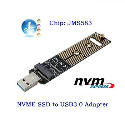 NVME M-key M.2 SSD External PCBA Adapter with Disk Case GL to USB 3.0 Tops