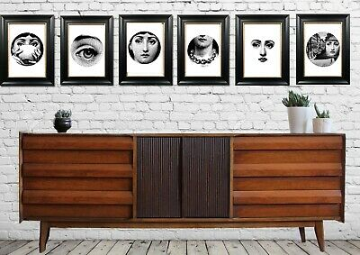 Collectable 6  A3 Giclee Vintage Eames Era Style Art Prints  Lina By Fornasetti