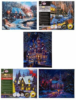 Craft Buddy Large Christmas Crystal Art Picture Kit with LED Lights