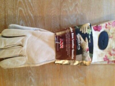 Gardening Gauntlet Gloves with Leather - Brand New with Tags  Small Bradleys