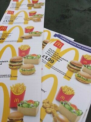 mcdonalds vouchers 5 strip 30 individual dated 15 December 2019