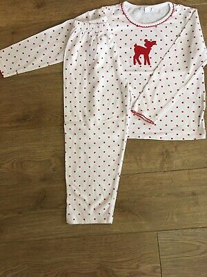 The Little White Company Girls Winter/Christmas Pyjamas Age 3-4