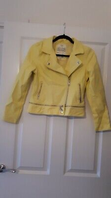 M&S Girl Faux Leather Jacket Size 11-12 Yers