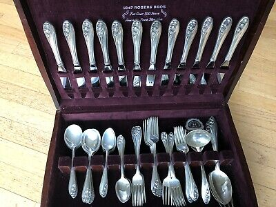 VERY RARE Gorham Sterling Silver Silverware 65 Pieces, 12 Place Settings, W Case
