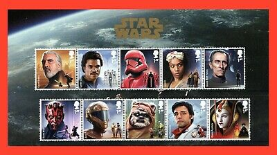 2019 Star Wars 10 x 1st Class Character Stamp Pack