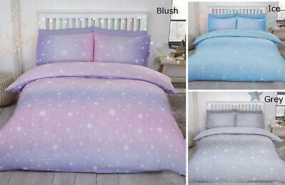 Starburst  100/% Brush Cotton Flannelette Duvet Set King  Cheapest On  Grey