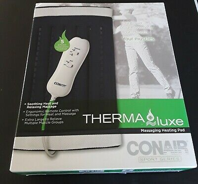 Conair Sport Series Therma Luxe Massaging Heating Pad New