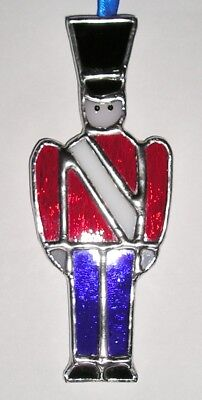 Stained Glass Toy Soldier, Christmas Decoration, Suncatcher, Handmade in England