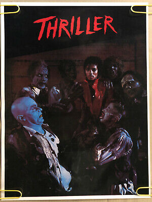 Original Vintage Poster Michael Jackson Thriller Music Memorabilia Pin Up 1980's