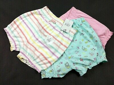 3 Pairs Of Girls Shorts 12-18 Months George - Slight Defect