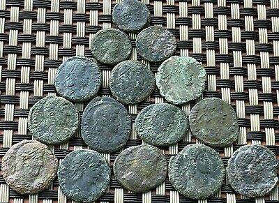 Lot Of 15 Ancient Roman Imperial Bronze Coins Ae Follis Very Good Quality