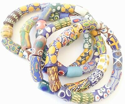 Handmade Ghana Fancy Assorted multi bracelet-African Trade Beads-Ghana