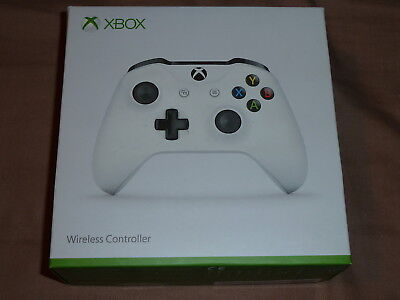 MICROSOFT XBOX ONE OFFICIAL GENUINE WIRELESS CONTROLLER WHITE 3.5mm Jack Boxed