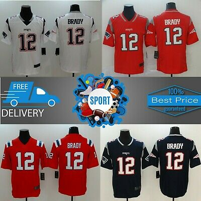 Free Delivery Men's New England Patriots team #12 Tom Brady Stitched Jersey