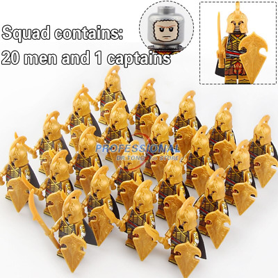 21pcs Elf Guard Minifig Army Military Lord of The Rings Knight Lego Minifigure