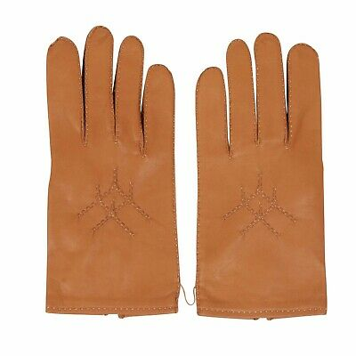 Brand New - Goyard - Brown Leather Gloves - Silk Lining - Size 9