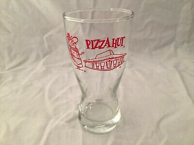 "Vintage Pizza Hut Pilsner Beer Glass About 5 1/2"" Tall"