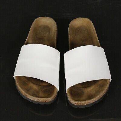 BETULA WHITE LEATHER Sandals Licensed by Birkenstock Size 8