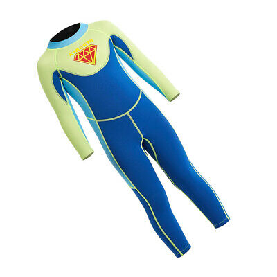 Neoprene Thermal Swimsuit Long Sleeve One Piece Water Suits Kids Wet Suits
