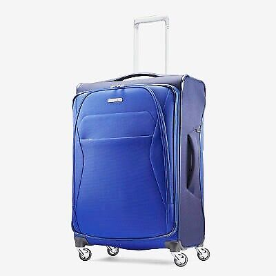 """NEW Samsonite Luggage Eco-Move SUMMER BLUE Navy 29"""" Spinner Expandable Suitcase"""