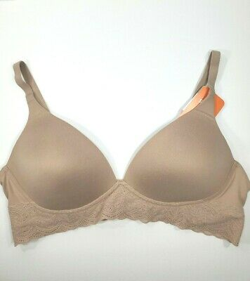 Warners Firm Support Wire Free Bra Full Figure Molded Cup Stretch 1544 36B B36