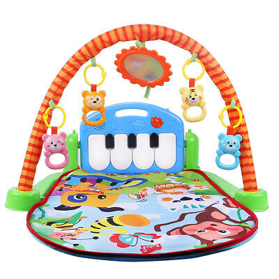 3-in-1 Cute Rainforest Musical Lullaby Baby Activity Playmat Gym Toy Play Mat JO