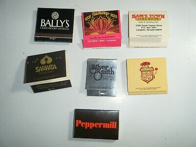 Casino Hotel Matchbook covers Ballys Flamingo Edgewater Silver Smith Peppermill