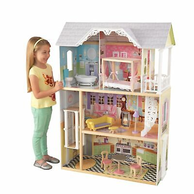 New Kaylee Dollhouse with 10-Piece Accessory Set by KidKraft