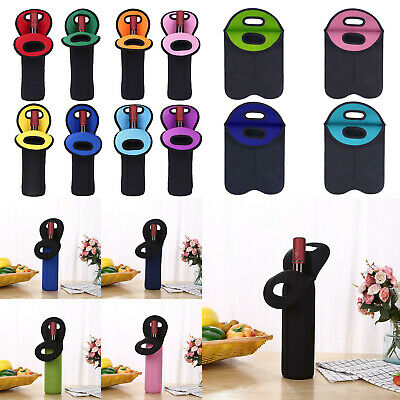 Reusable Insulated Beer Wine Bottle Carriers Tote Neoprene Carrier Cooler Bags