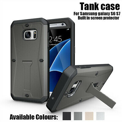 For Samsung Galaxy S6 S7 Heavy Duty Shockproof Hard PC Armor Tank Case Cover