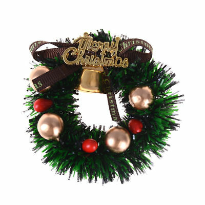 Miniature Christmas Wreath Fairy Garden Doll House