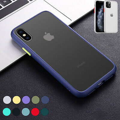 Matte Clear Back Case for iPhone 11 Pro Max X XR Xs 6s 7 8 Plus Shockproof Cover