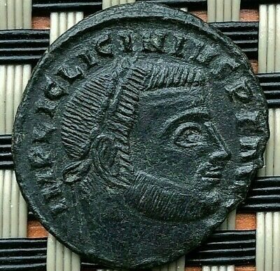 Licinius I 308-324 Ad Ad Ae Follis Jupiter Siscia Mint Ancient Roman Coin