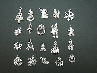 "20 Christmas ""Antique Look"" Metal Crafting Charms - AUSTRALIAN STOCK"