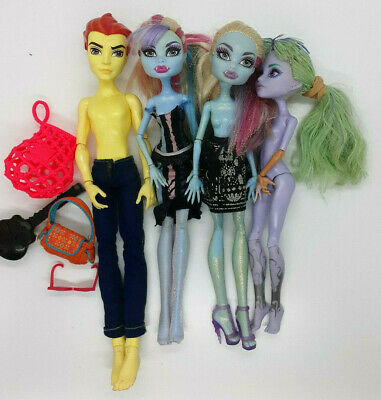 Monster High Dolls Lot of 4 Collectible Standard Size 28cm Branded Accessories