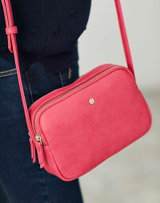 Joules Womens Farley Cross Body PU Bag in PINK in One Size