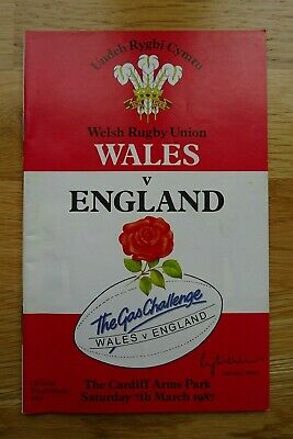 1987 England v Wales Rugby Union Programme - Five Nations