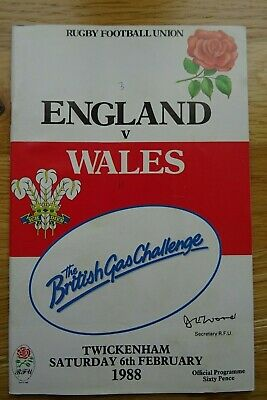 1988 England v Wales Rugby Union Programme - Five Nations