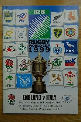 1999 England v Italy Rugby Union World Cup Programme
