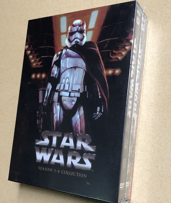 Star Wars Saga Movie Episodes 1-8 Complete DVD Set Collection (14-Disc Set)