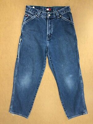 Ff936 Boys Tommy Hilfiger Blue Straight Leg Denim Jeans Age 14 Years W26 L29