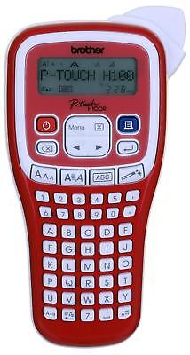 Brother PTH100R Handheld Labelling Machine Red LCD Screen with 4 Metres Tape Inc