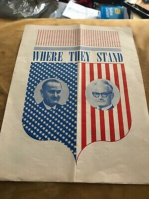 4792 Rare 1964 Barry Goldwater GOLD WATER Novelty Beverage Carton