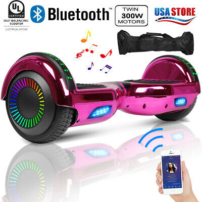 Bluetooth Hoverboard HOVSCO UL2272 Self Balancing Scooter LED UL2272 With Bag