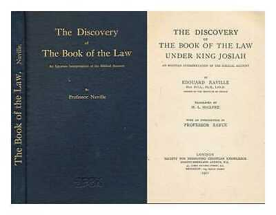 The Discovery of the Book of the Law under King Josiah, an Egyptian...