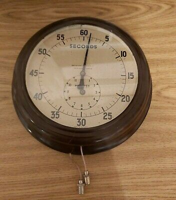 Vintage Smiths wall mounted Clock, rare war time 60 seconds timer bakelite clock